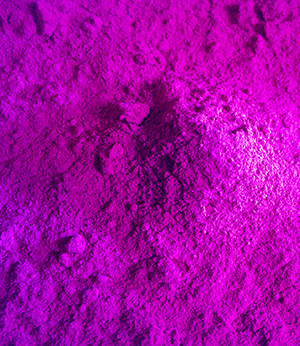 Interferencial purple pigments